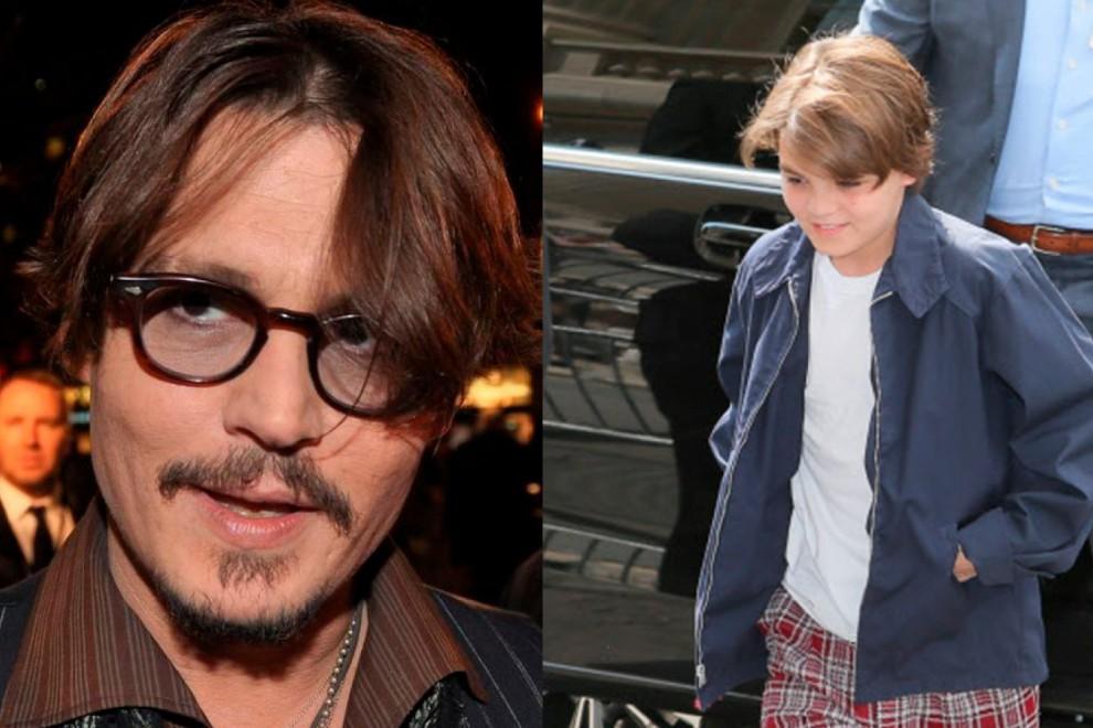 Johnny Depp y su hijo Jack Depp