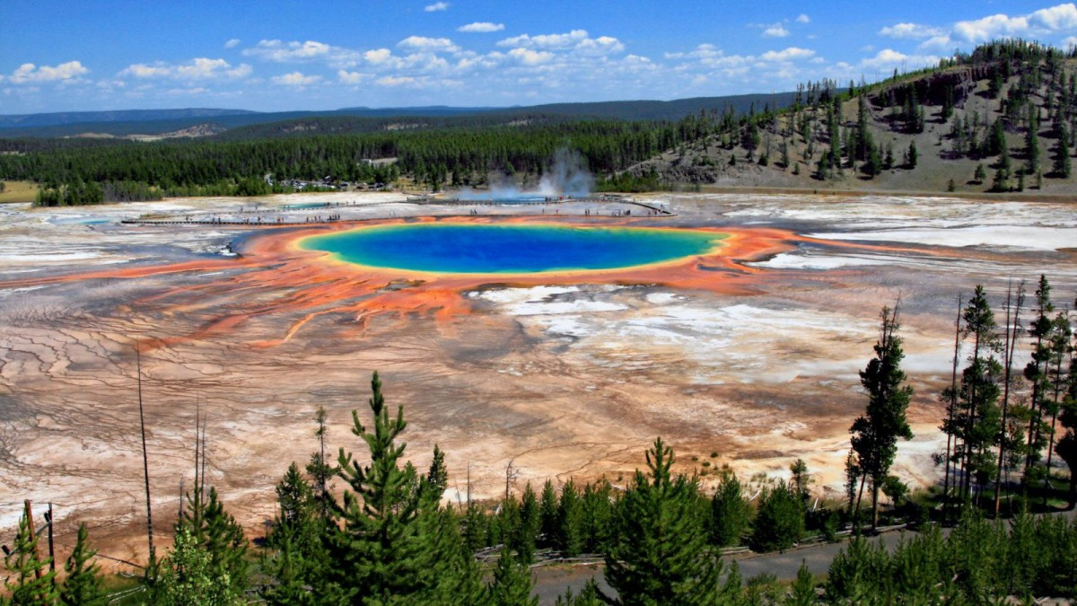 La Gran Fuente Prismática del Parque Nacional de Yellowstone.