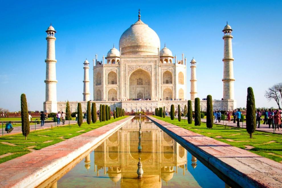 El impresionante Taj Mahal.