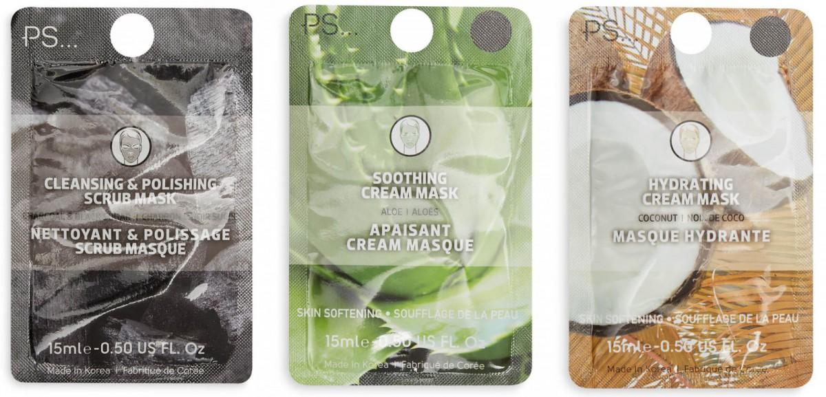 Algunas de las mascarillas faciales, disponibles en Primark a partir de 1 euro