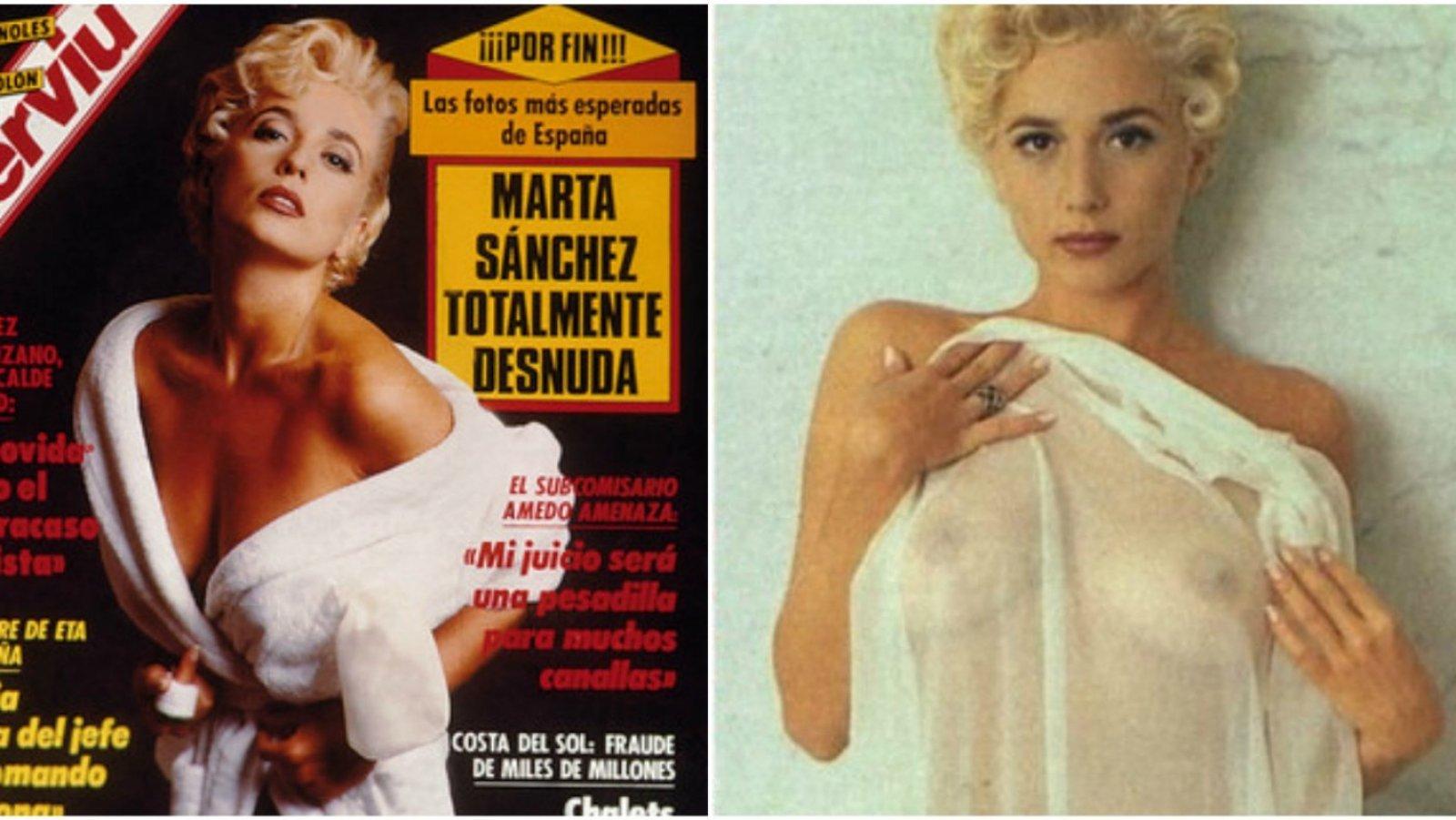 El reportaje que erigió a Marta Sánchez como un sex symbol español.