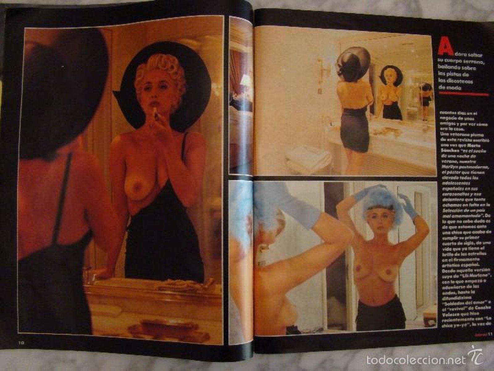 El reportaje para la revista 'Interviú' que erigió a Marta Sánchez como un sex symbol español.