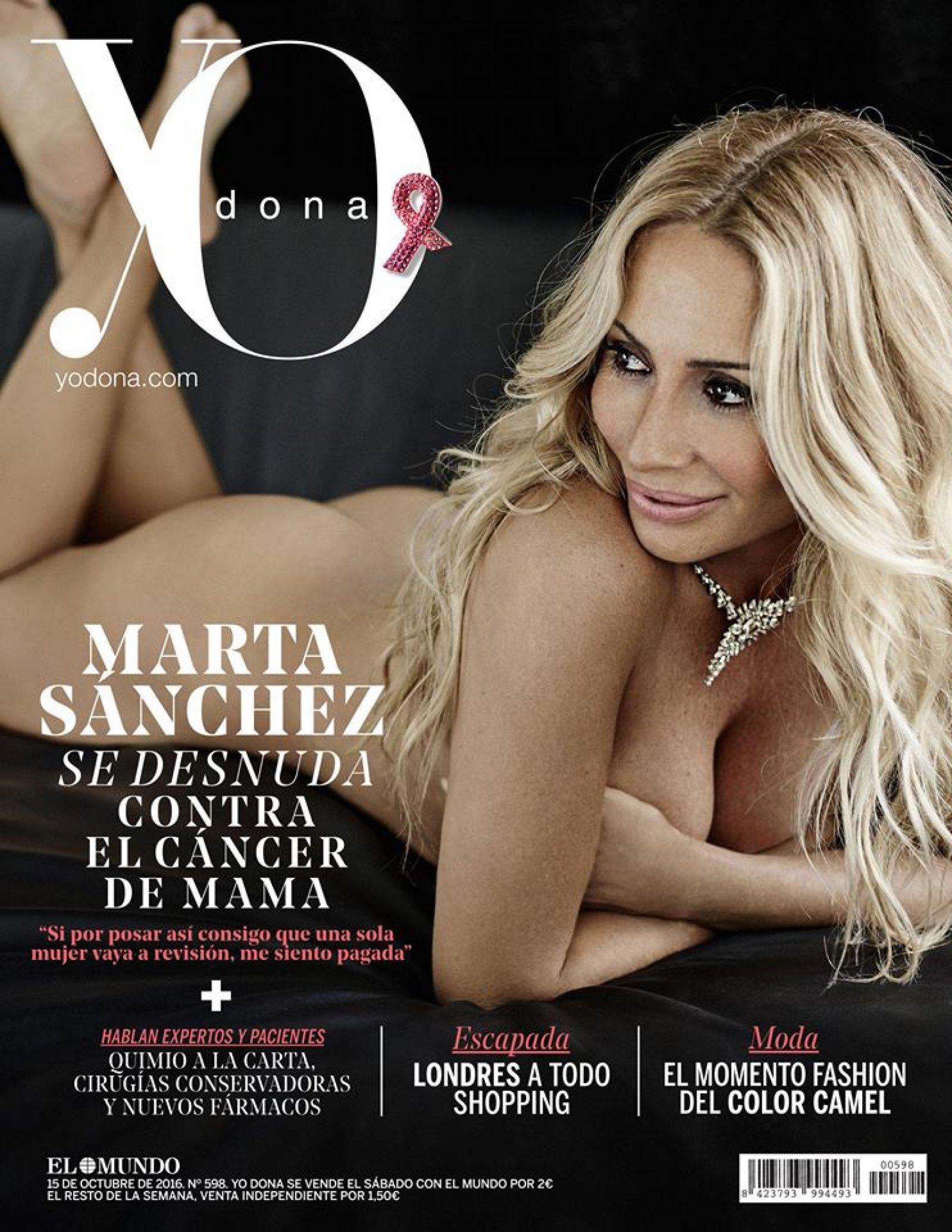 El posado de Marta Sánchez para Yo Dona.