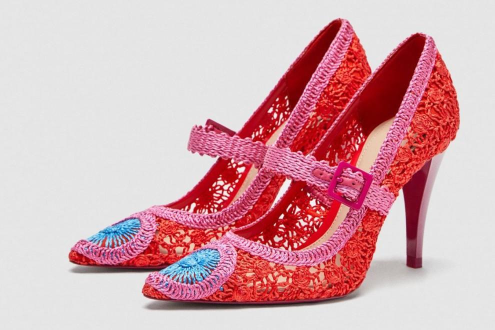 Zapatos de salón de crochet, agotados en Zara, por 59,95 euros