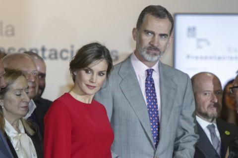 La reina Letizia y el rey Felipe VI durante la inauguración de la feria ARCO 2018 en Madrid