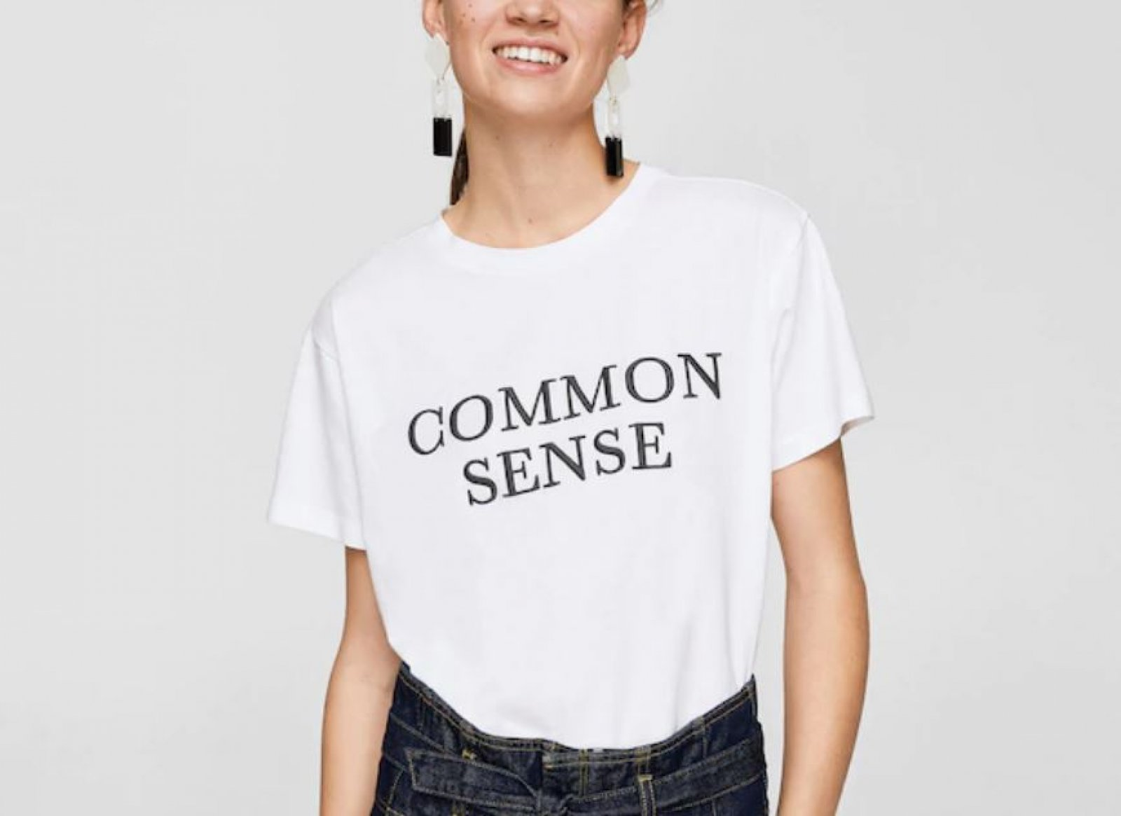 Camiseta 'common sense' de Mango, por 12,99 euros
