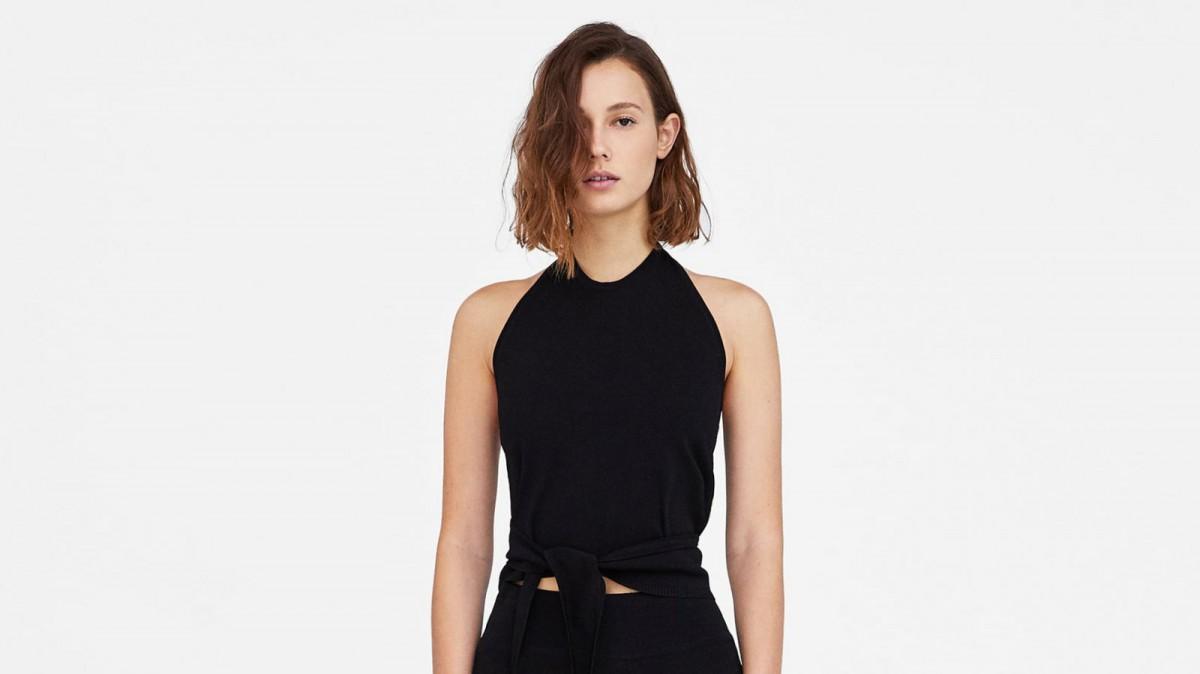 Top Halter Minimal Collection de Zara, por 25,95 euros.