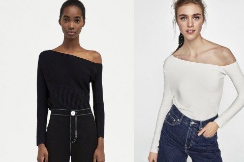 Top Asimétrico Minimal Collection de Zara, por 25,95 euros