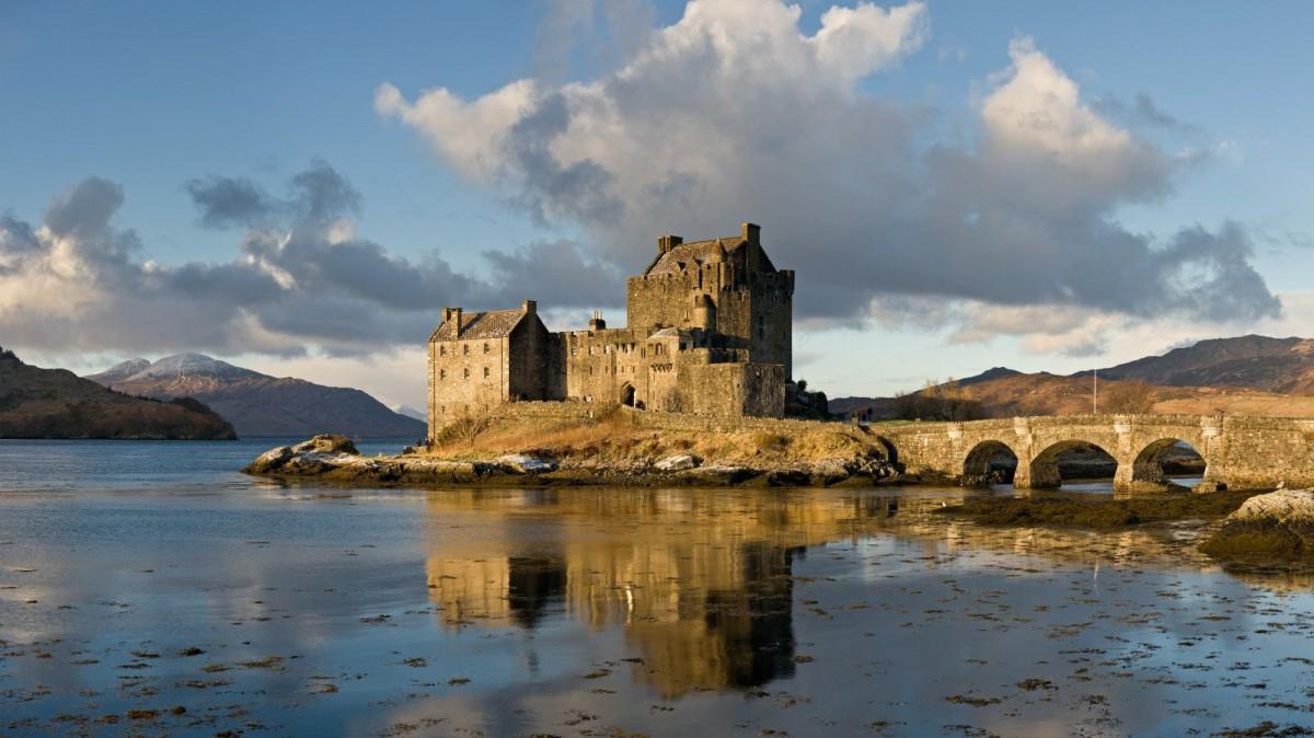 Castillo de Eilean Donan en las highlands escocesas.