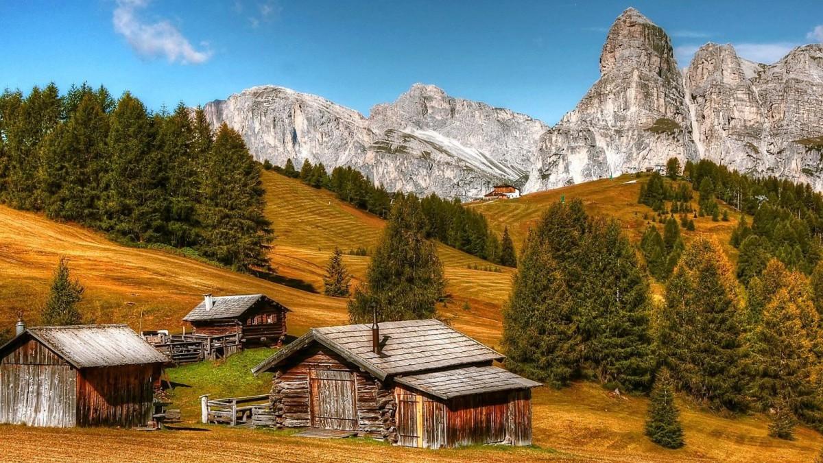 Paraje al pie de las Dolomitas