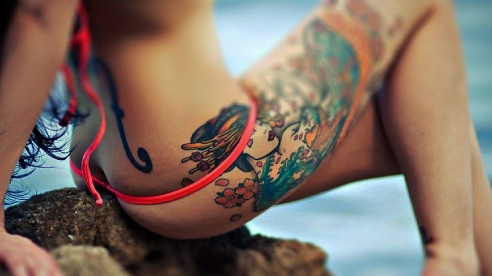 Tatuaje de estilo japonés.