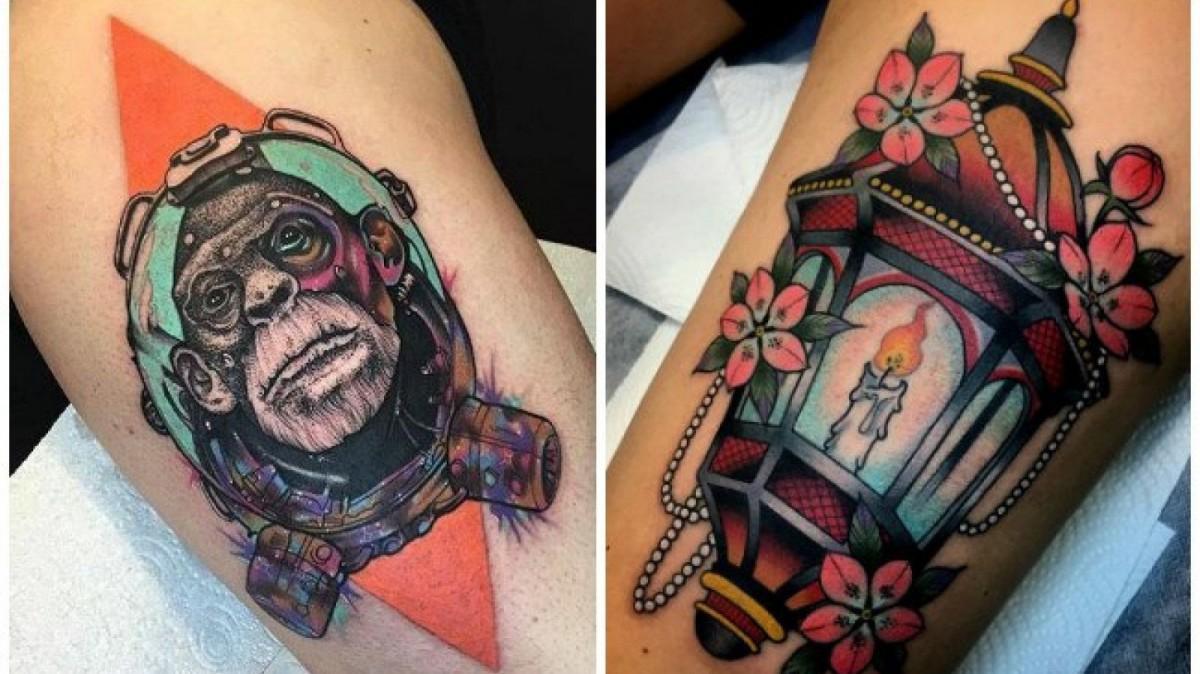 Tatuajes de estilo neotradicional.