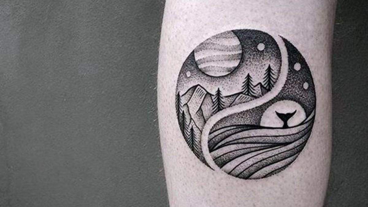 Tatuaje con técnica puntillista.
