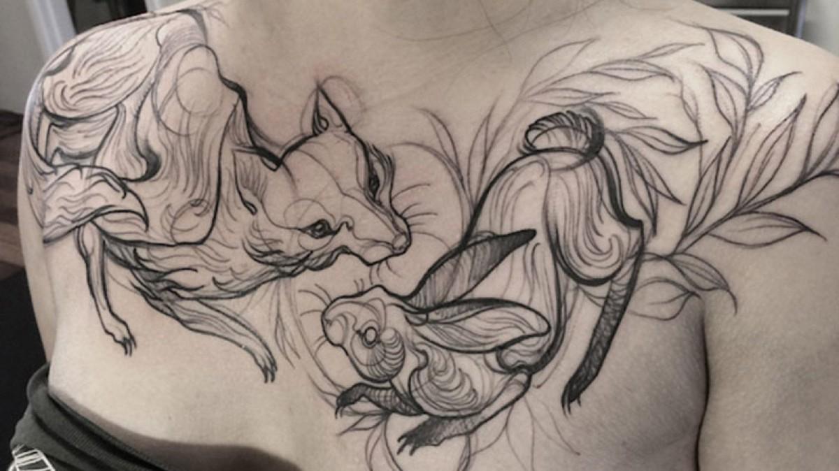 Tatuaje de bosquejo.