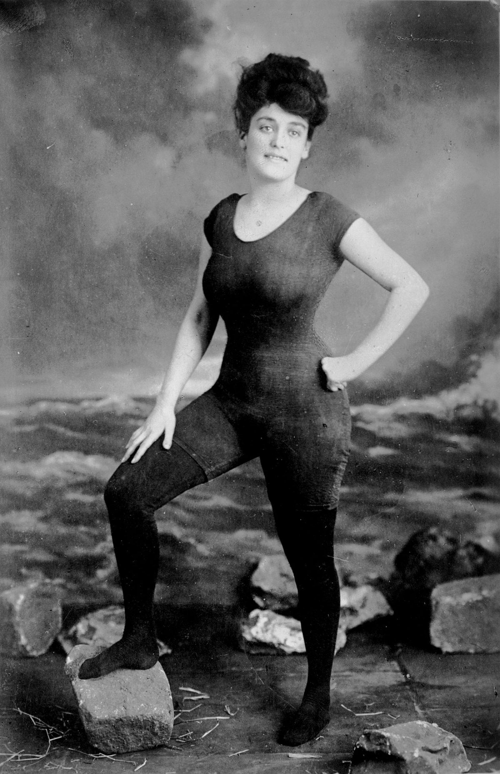Annette Kellerman fue detenida por indecencia tras esta foto en 1907.