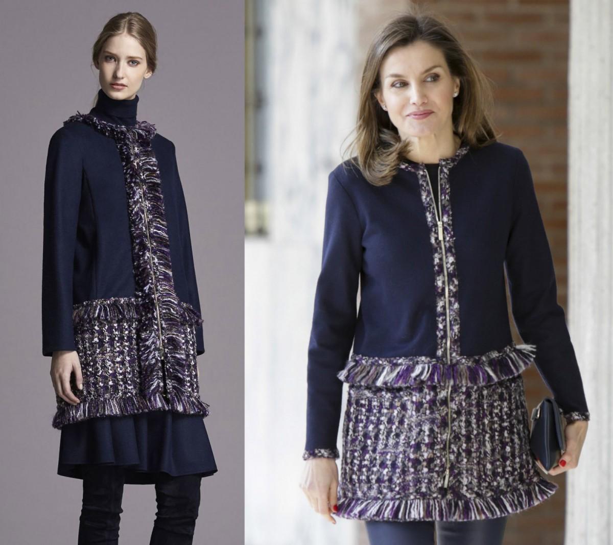 El diseño original de Carolina Herrera vs. con las modificaciones de la reina Letizia