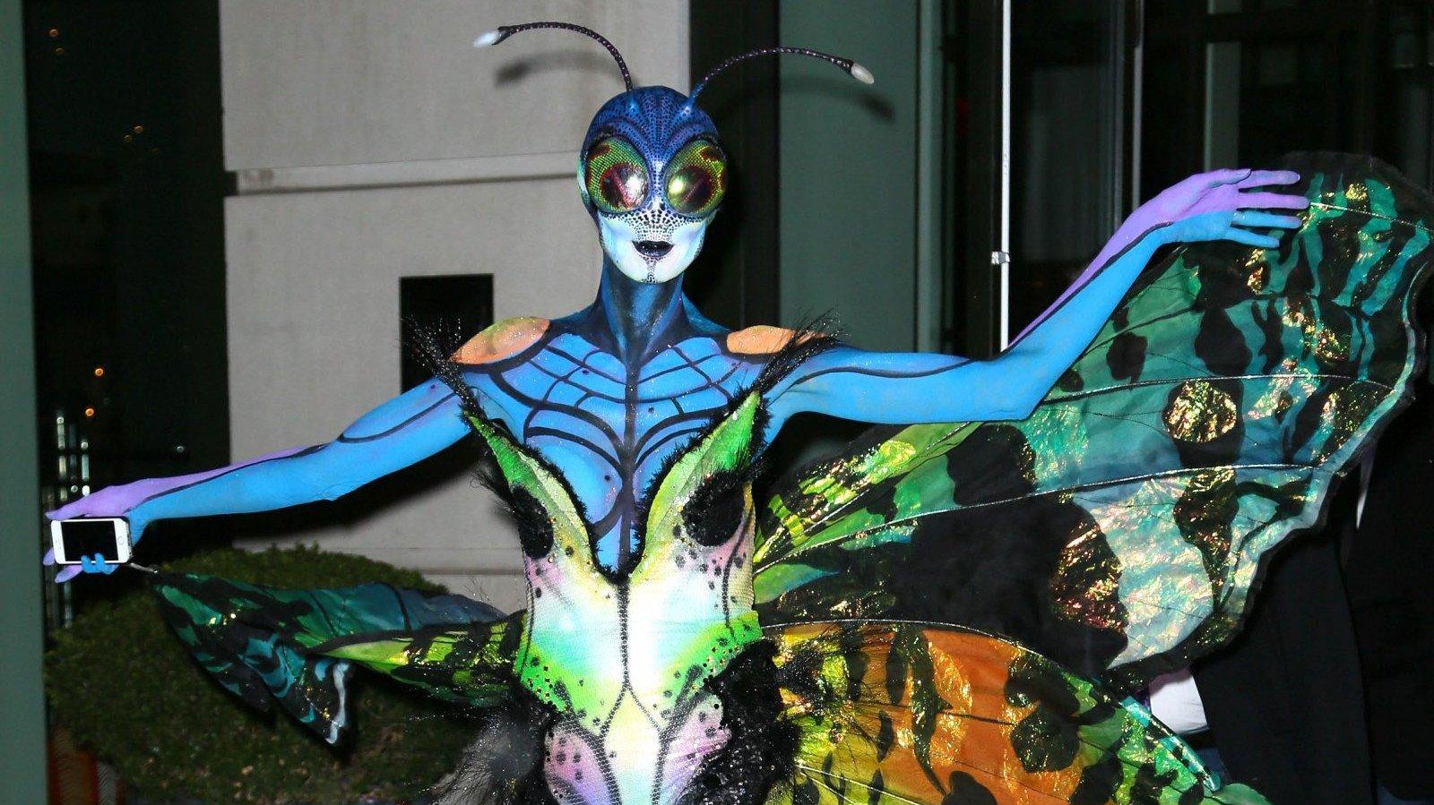 Heidi Klum disfrazada de mariposa.