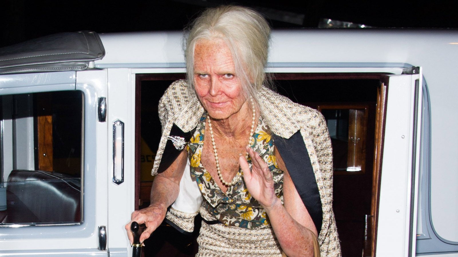 Heidi Klum disfrazada de su versión envejecida