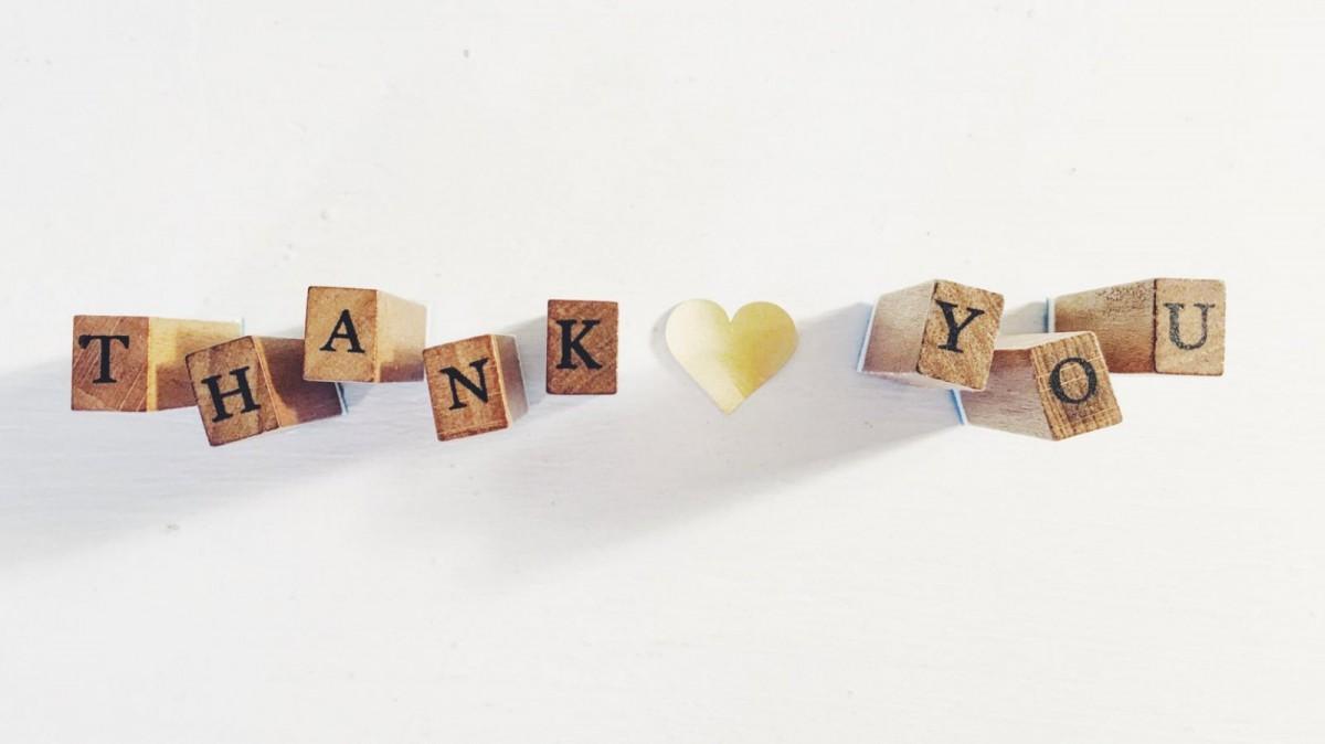 A veces con solo unas pocas palabras basta para mostrar nuestra gratitud.