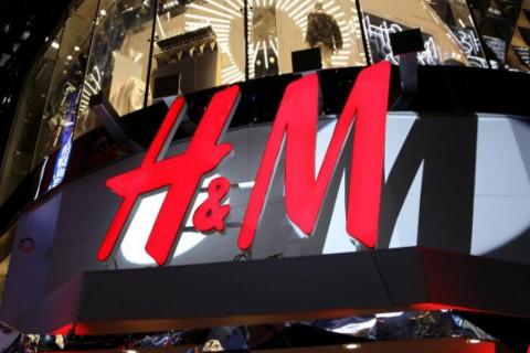 Imagen de archivo de un rótulo de tienda H&M
