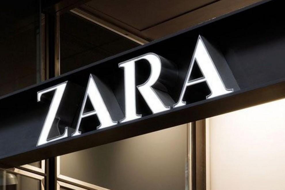 Imagen de archivo de un rótulo de la firma de Inditex Zara