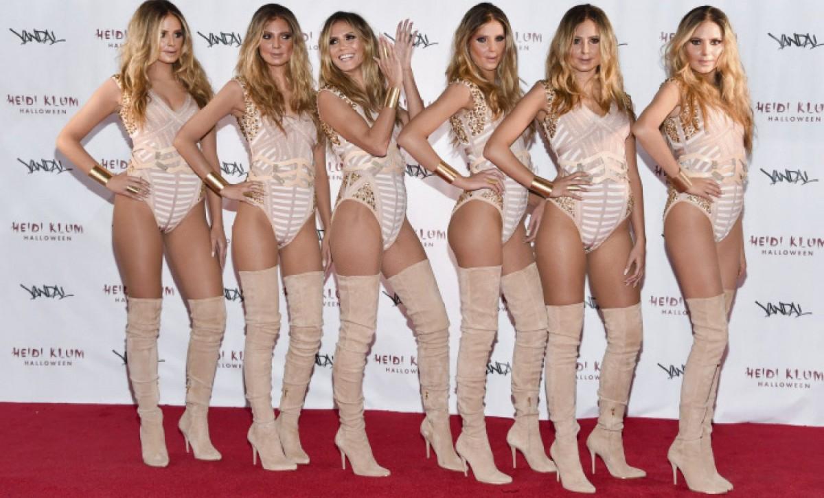 Heidi disfrazada con sus clones