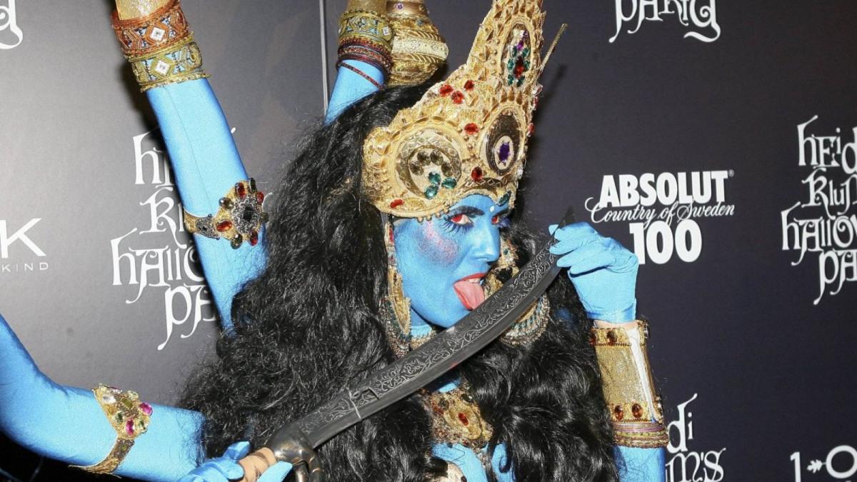 Heidi Klum como diosa Shiva.