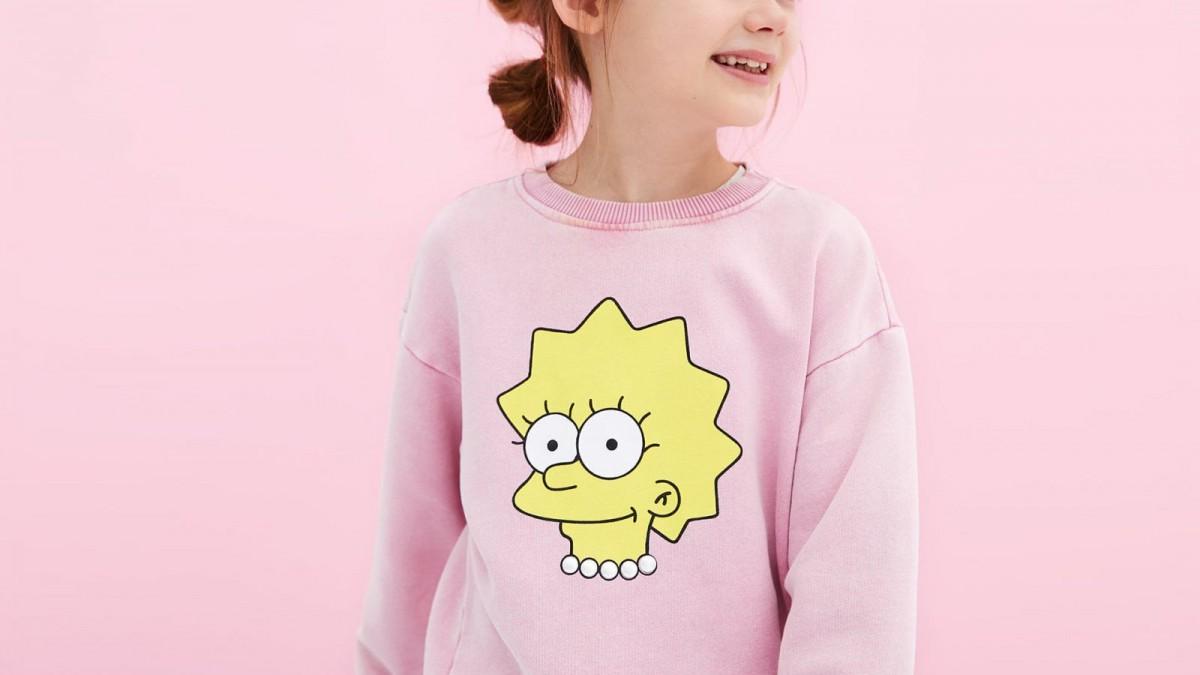 Sudadera rosa 'Simpsons' de Zara Kids, por 17,95 euros