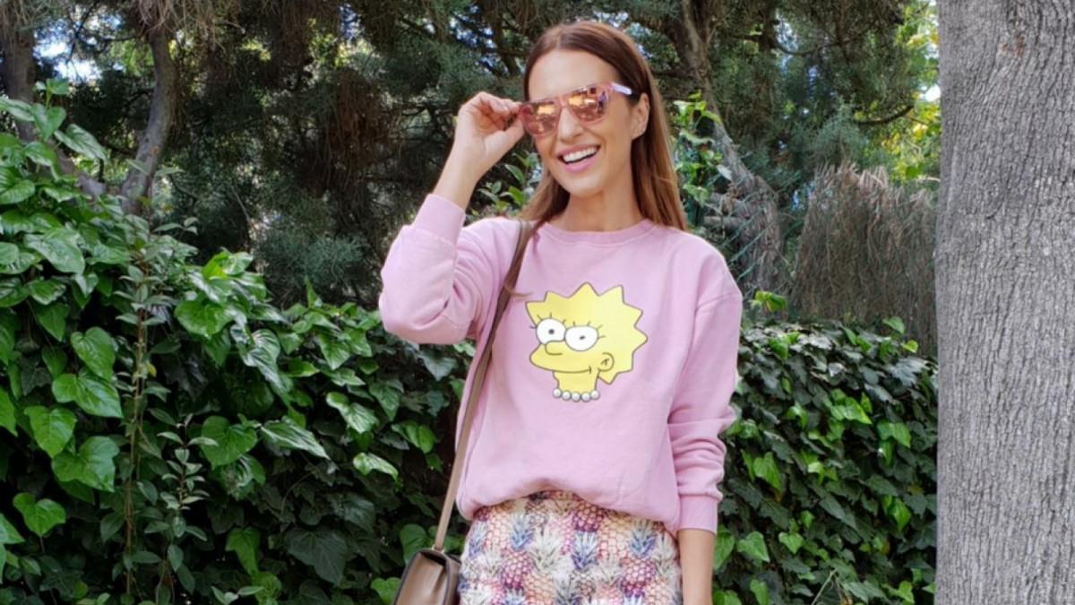 Paula Echevarría con una sudadera de Zara Kids