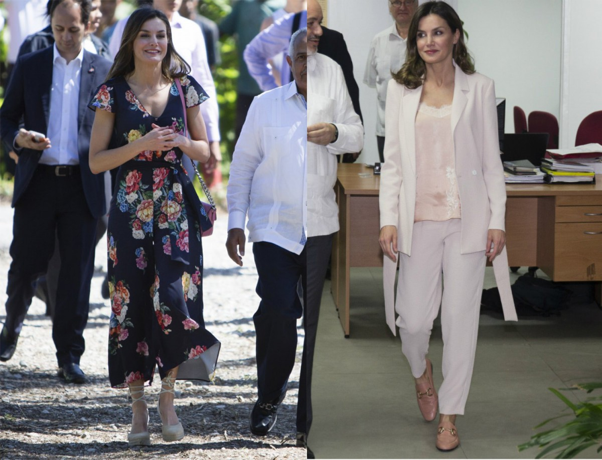 Los dos 'looks' con prendas de Inditex de la reina Letizia