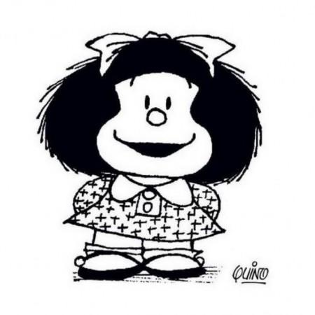 Mafalda, personaje más famoso de Quino, es todo un icono de las tiras cómicas.