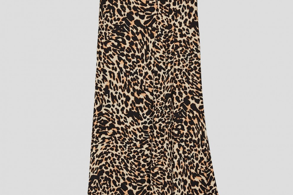 Falda 'Midi' Estampado Animal de Zara, por 29,95 euros