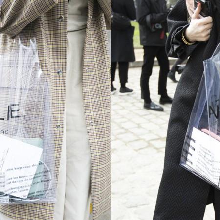 El bolso transparente de la firma Céline convirtió el vinilo transparente en un 'hit' de moda