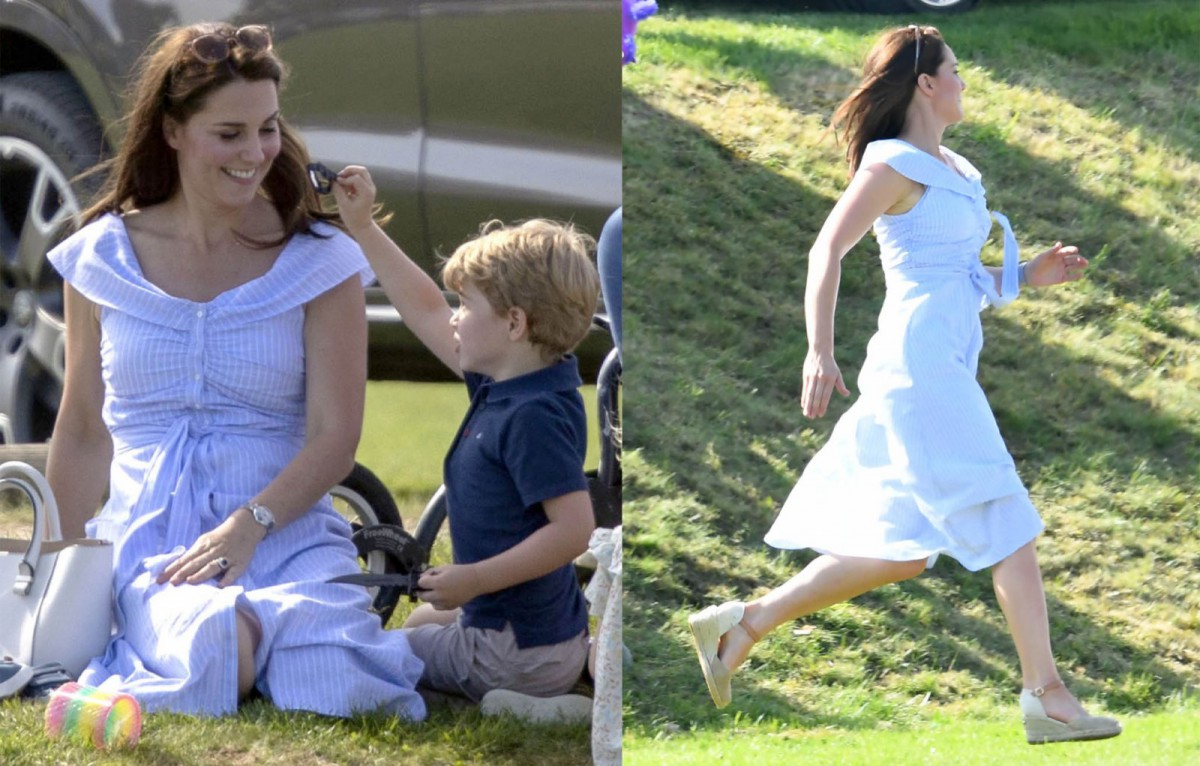Kate Middleton lució un vestido de 40€ de Zara para un domingo en el polo