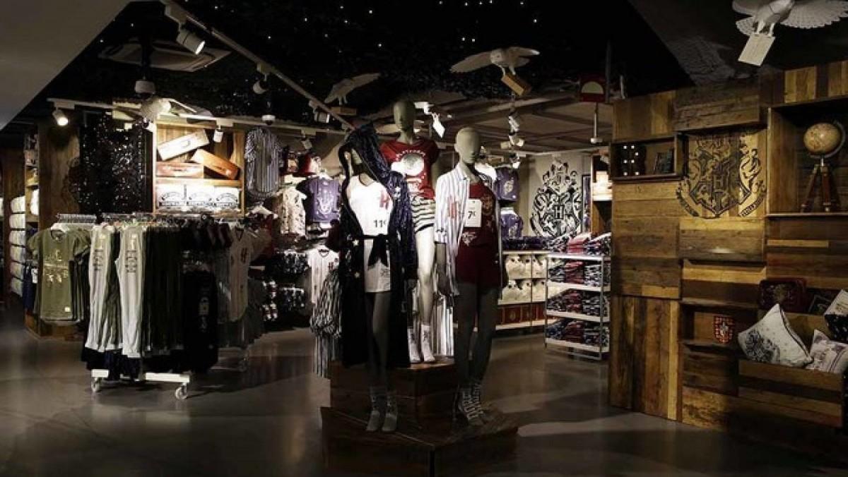 Una de las zonas de la primera tienda temática de Harry Potter en el Primark de Gran Vía de Madrid