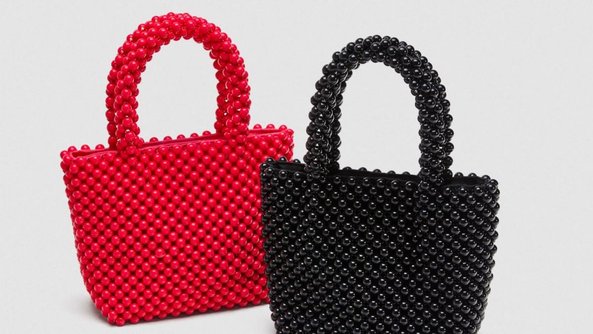 Mini Shopper Bolitas de Zara, por 29,95 euros.