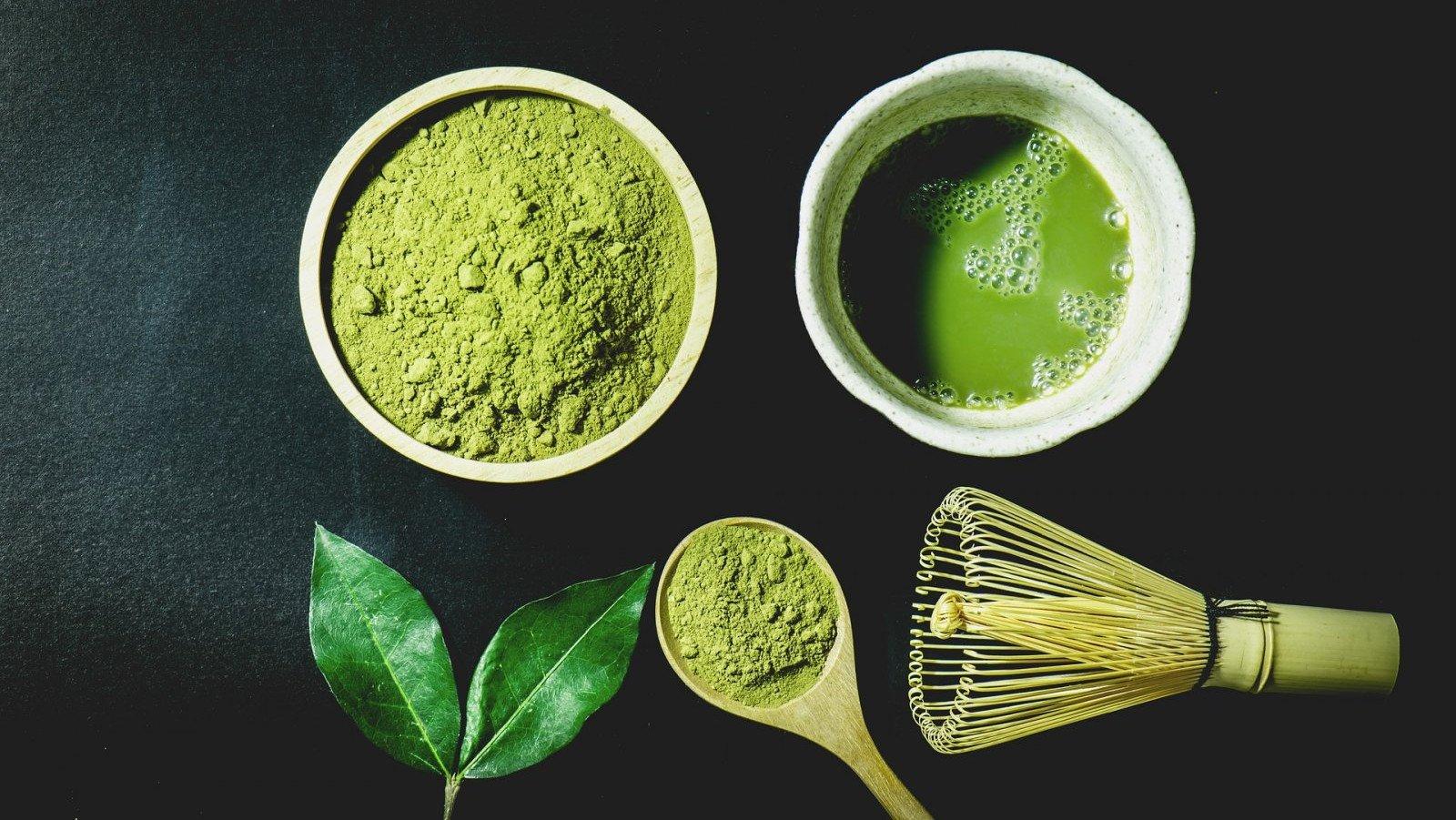 El té matcha contiene 10 veces más propiedades nutritivas que el té verde.