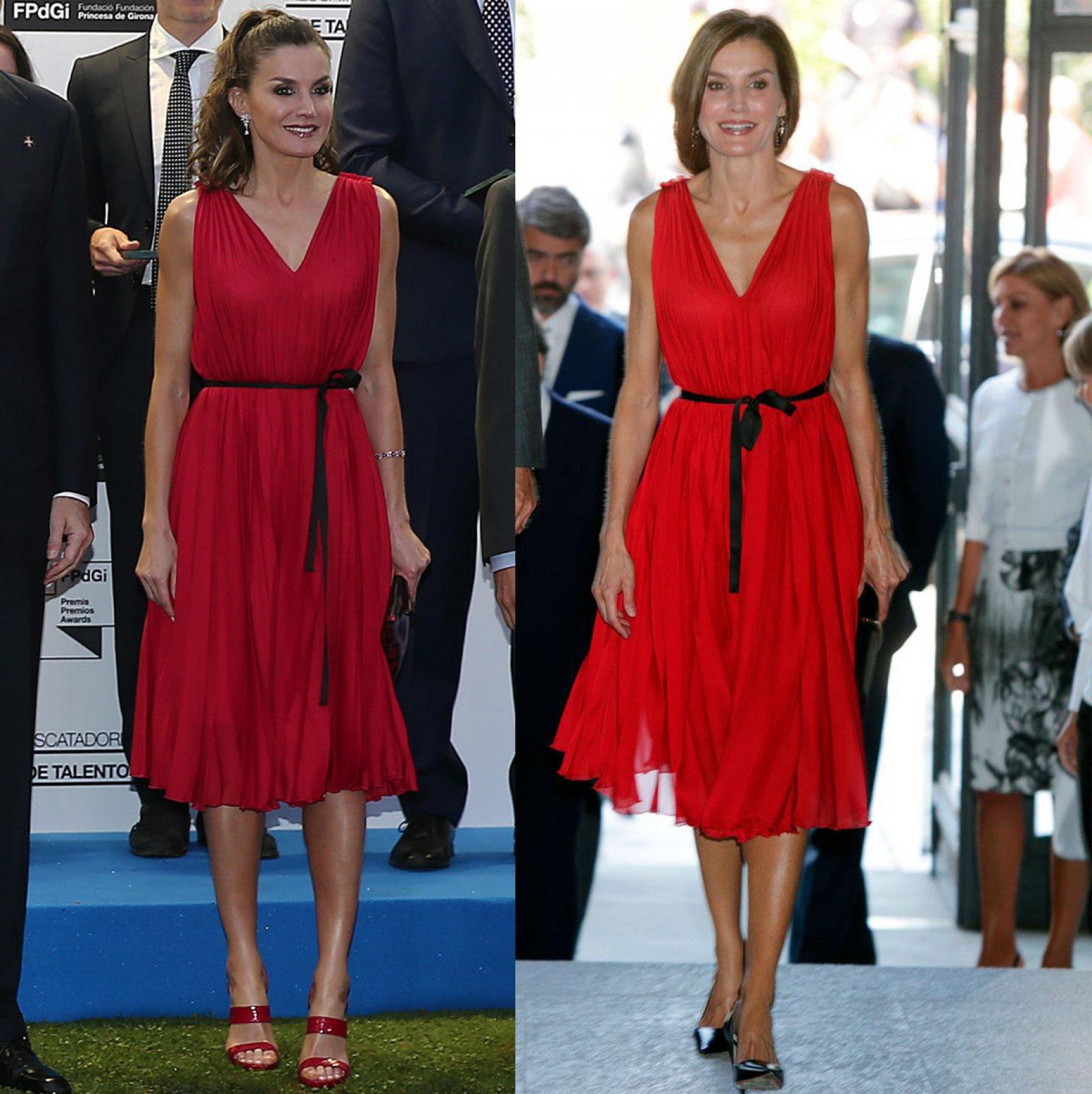 El vestido rojo de Carolina Herrera que la reina Letizia ha lucido en varios actos