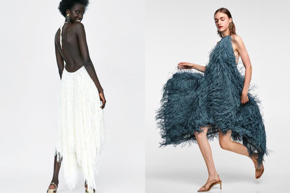 Las dos versiones del vestido de flecos con escote 'halter' más deseado de Zara