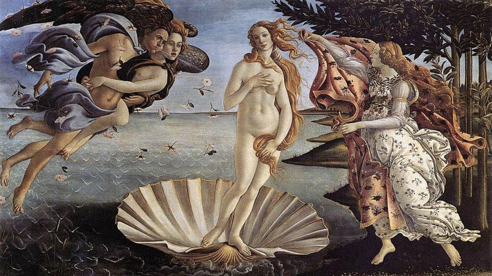 El nacimiento de Venus es una de las obras más reconocidas de la historia del arte.