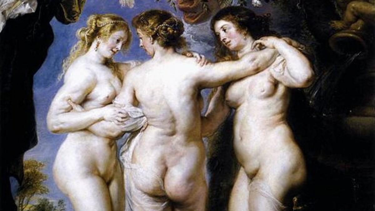 Las tres gracias que representó Rubens en uno de sus cuadros más famosos.
