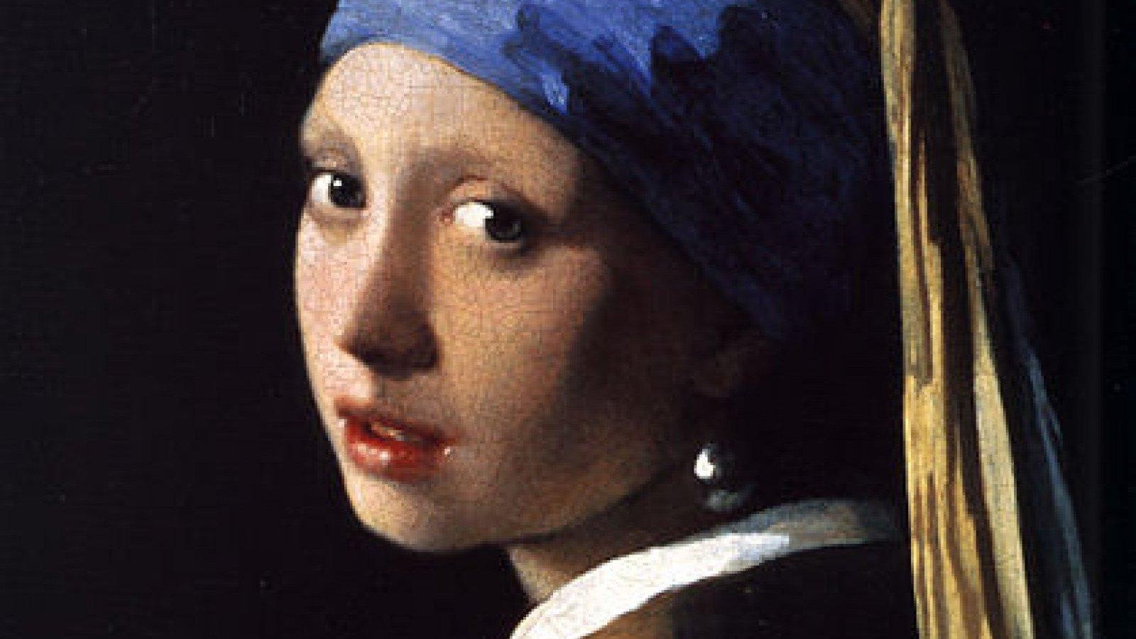 La joven de la perla es uno de los cuadros más famosos de Vermeer.