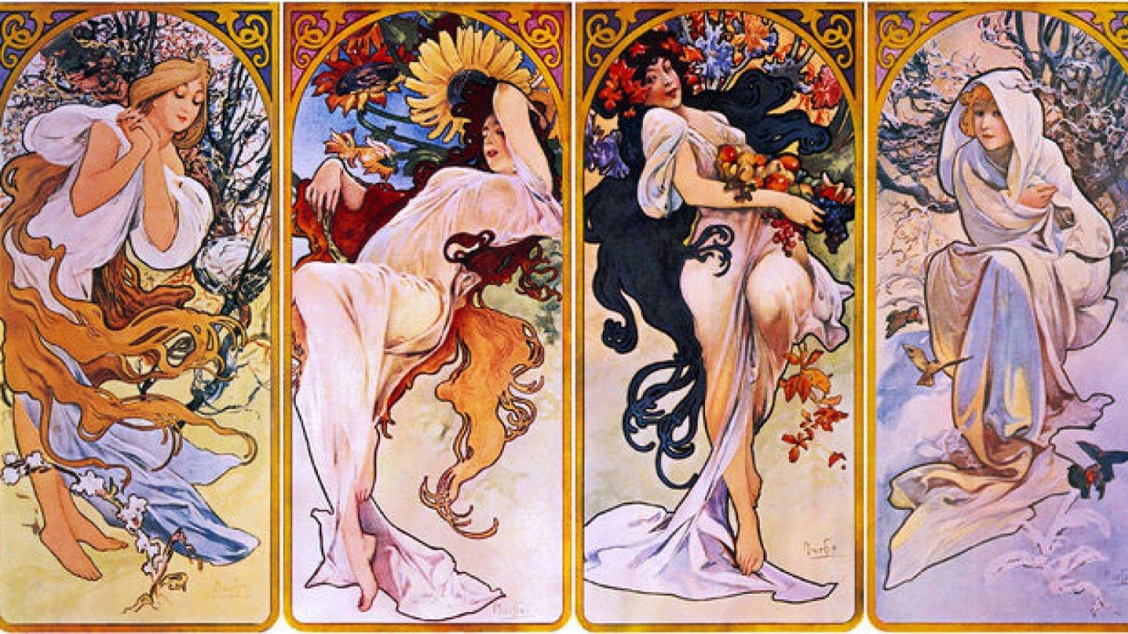 Alfons Mucha solía representar mujeres en sus obras.