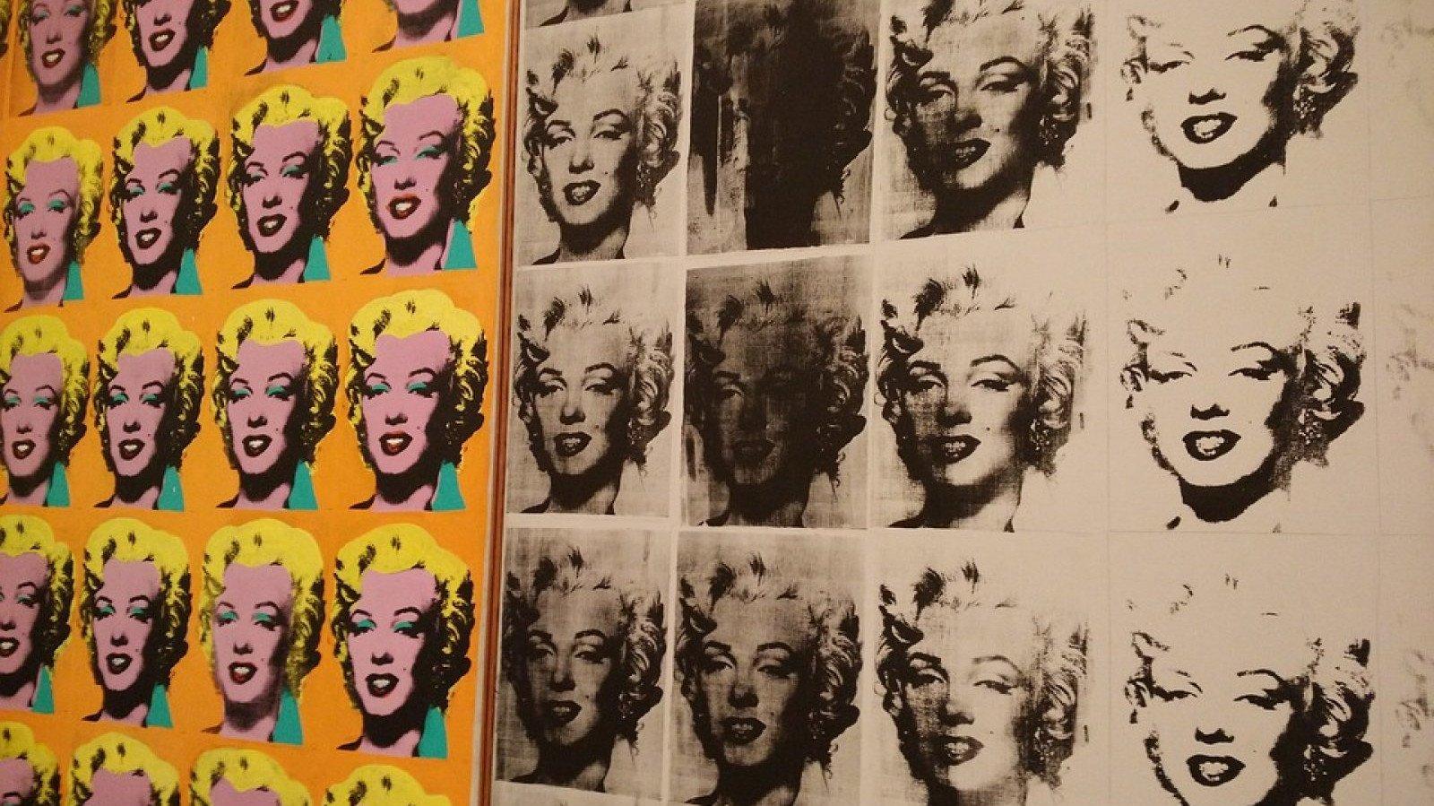 El díptico serigrafiado de Andy Warhol, representando a Marilyn Monroe.