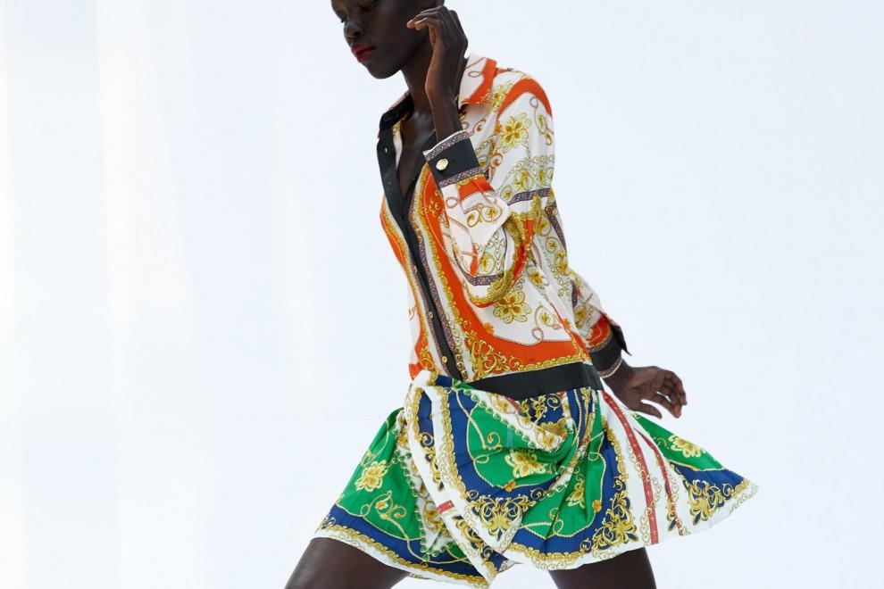 Vestido Parchwork Cadenas de Zara, por 49,95 euros.
