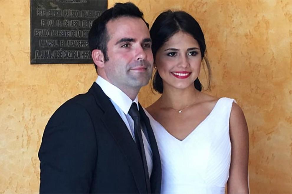 Imagen de la boda de Naím Thomas.