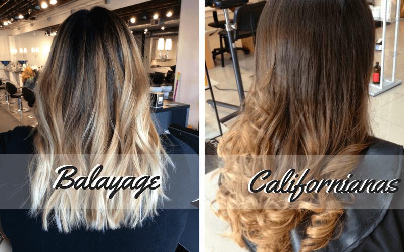 Diferencias mechas bayalage y californianas