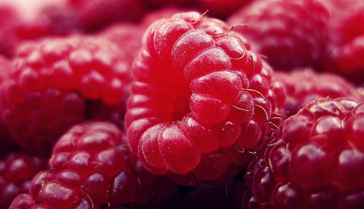 frutas ligeras como la frambuesa