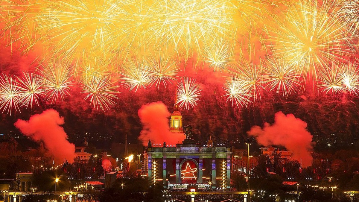 En Moscú también celebran la llegada del año nuevo por todo lo grande.