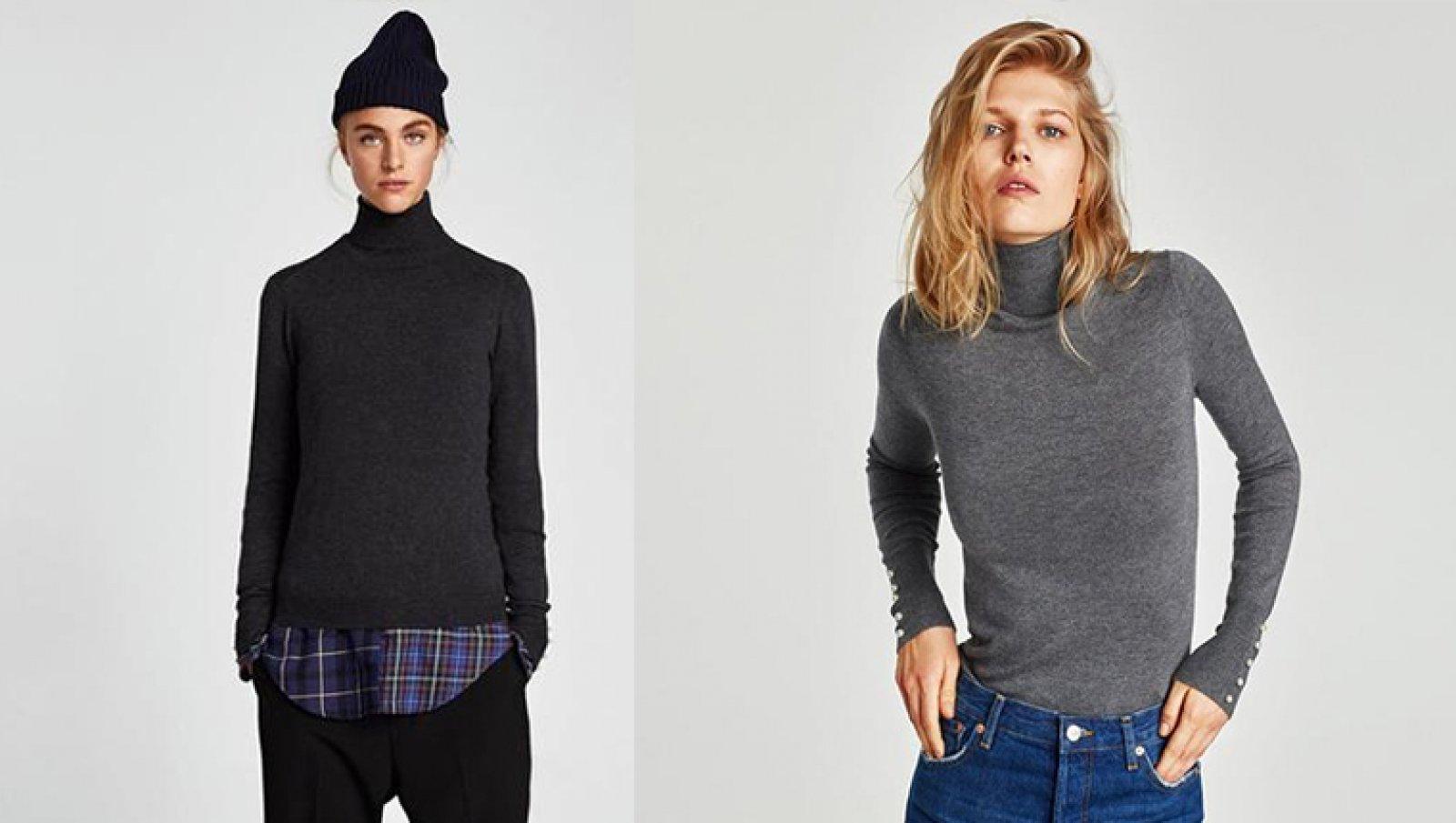 Jersey básico de Zara en colores gris y negro